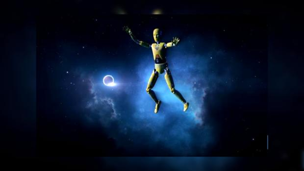 Создана анимация падения человека нанейтронную звезду