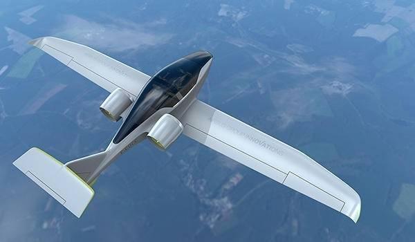 ВСША представлен электрический лайнер для коротких перелётов