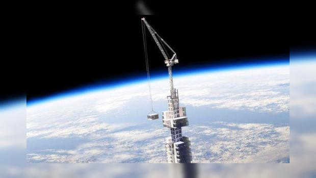 Американская компания предложила прикрепить величайший небоскрёб к астероиду