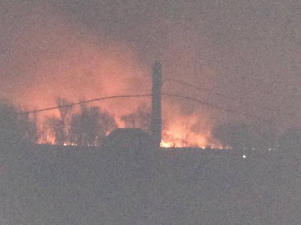Пожар наокраине столицы Украины охватил территорию площадью в3 тыс кв. м