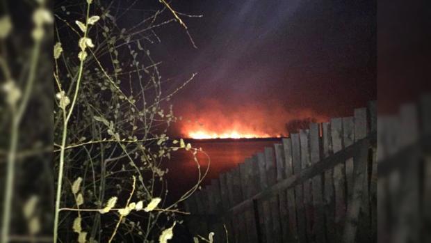 Размещено видео масштабного пожара вКиеве наОсокарках