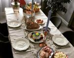 Праздничный стол Осадчей и Горбунова