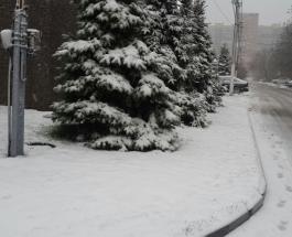 В Днепре и Харькове выпал снег - фото