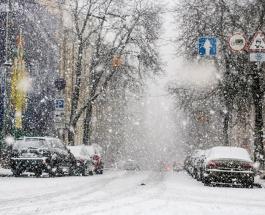 Снегопад в Киеве – видео неуместного природного явления