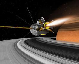 """Зонд """"Кассини"""" погрузился в кольца Сатурна"""