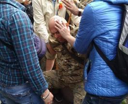 В Днепре возле Памятника Славы избили участников АТО