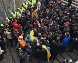 День Победы в Киеве: произошла стычка возле метро