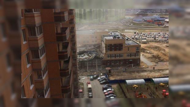 Мужчина вавтомобиле умер при обрушении строящейся школы вЛенобласти