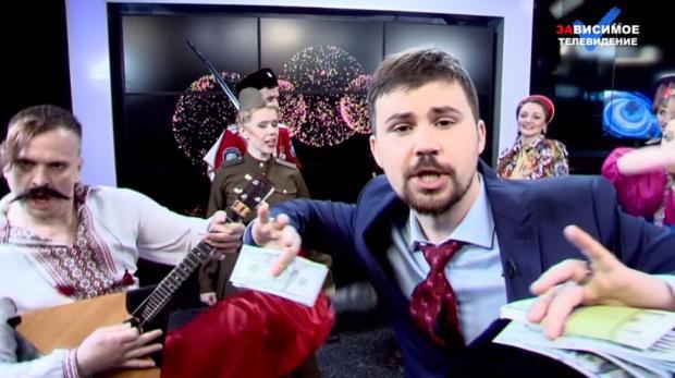 Юрий Дудь иВася Обломов вновом клипе пошутили над русским телевидением