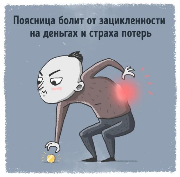 Какие сигналы нам посылает тело: шея болит из-за обид а голени из-за ревности