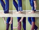 Как аккуратно надеть сапоги на джинсы? Вот так!