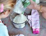Компресс из риса и носка