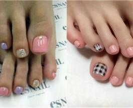 Узоры на ногтях: летние варианты красивого педикюра