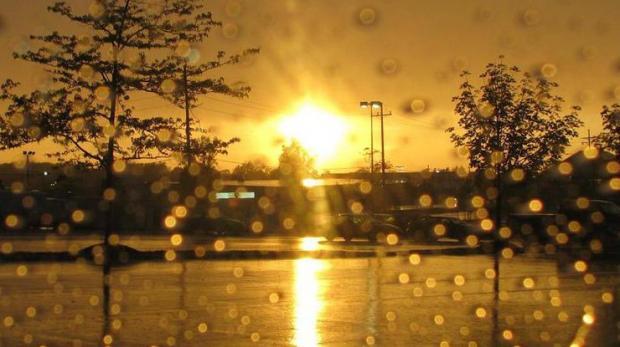 Днем гроза дождь