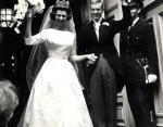 Принцесса Дезире Шведская (сестра нынешнего короля Швеции) и барон Нильс-Август Отто Карл Никлас Силвершолд. Швеция, июнь 1964