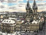 3. Староместская площадь в городе Прага, Чехия.