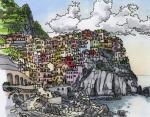 8. Красочный город Манарола в Чинкве-Терре, Италия.