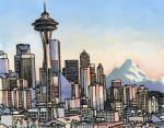 11. Футуристическая башня «Спейс-Нидл» в Сиэтле, США
