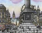 12. Трафальгарская площадь в Лондоне, Великобритания