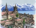 13. Кафедральный собор Нотр-Дам в Лозанне, Швейцария