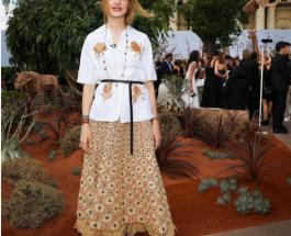 Неделя моды в Париже: Водянова Дион Портман на показе Dior