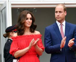 Кейт Миддлтон произвела фурор в красном платье на вечеринке у посла Британии