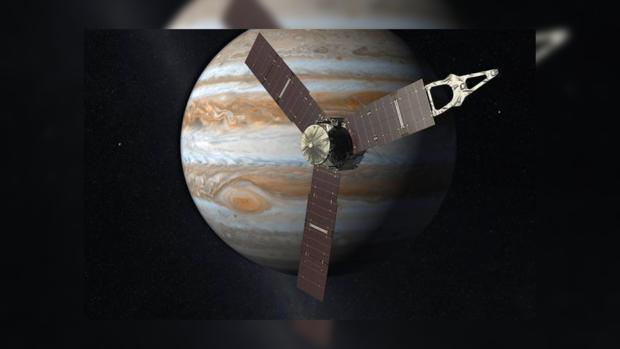Зонд Juno впервый раз пролетит над Большим красным пятном Юпитера