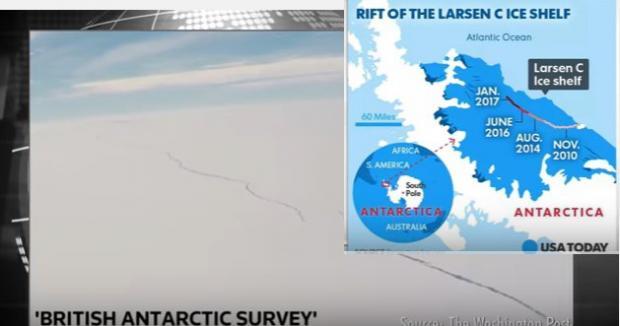фото раскола ледника