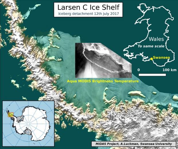 раскол ледника, графика