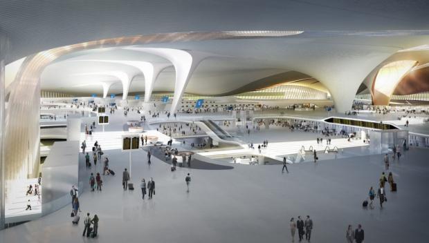 В Китае строят самый большой в мире аэропорт: фото с высоты птичьего полета