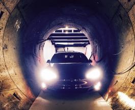 Илон Маск отправил автомобиль Тесла Model S в туннель под Лос-Анджелесом