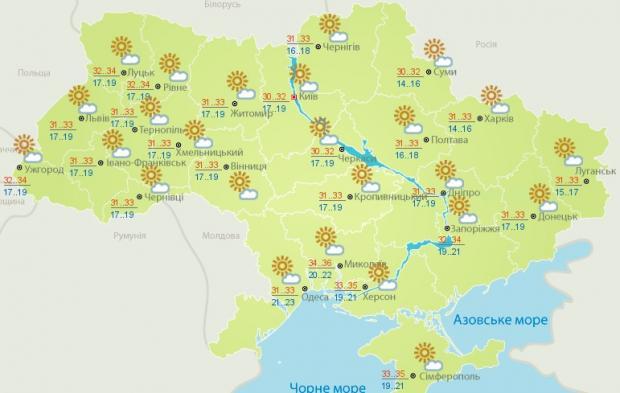 погода карта