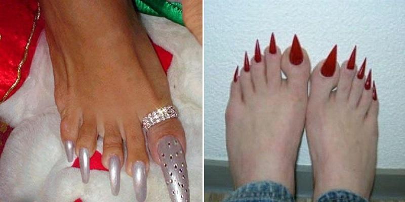 Самые длинные ногти на ногах в мире