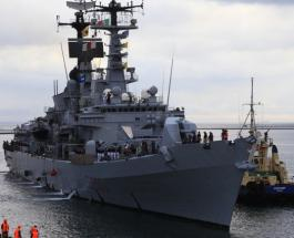 Эсминец ВМС Италии Луиджи Дуранд де ла Пенне прибыл в одесский порт - фото