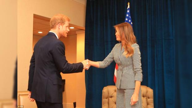 Принц Гарри и Мелания Трамп