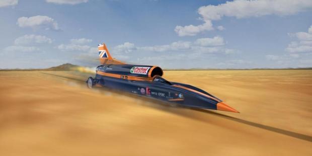 Bloodhound SSC испытали мотор для сверхзвукового автомобиля-истребителя