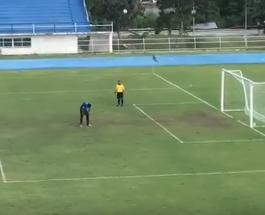 Невероятный гол: мяч влетел в ворота после того как вратарь уже радовался победе