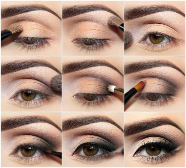 Как правильно накрасить глаза пошагово