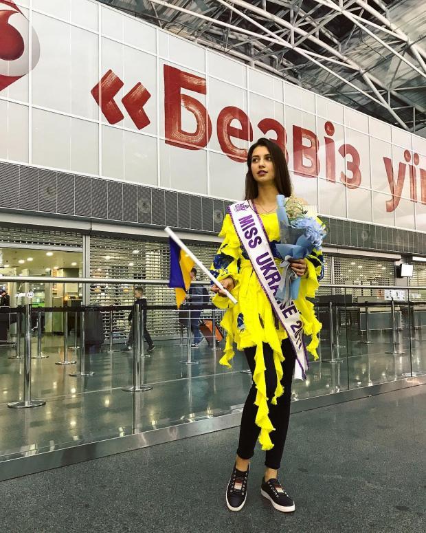 «Мисс Украина-2017» улетела в КНР наВсемирный конкурс красоты