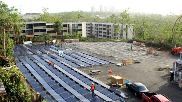 Первые солнечные панели компания Tesla установила вПуэрто-Рико