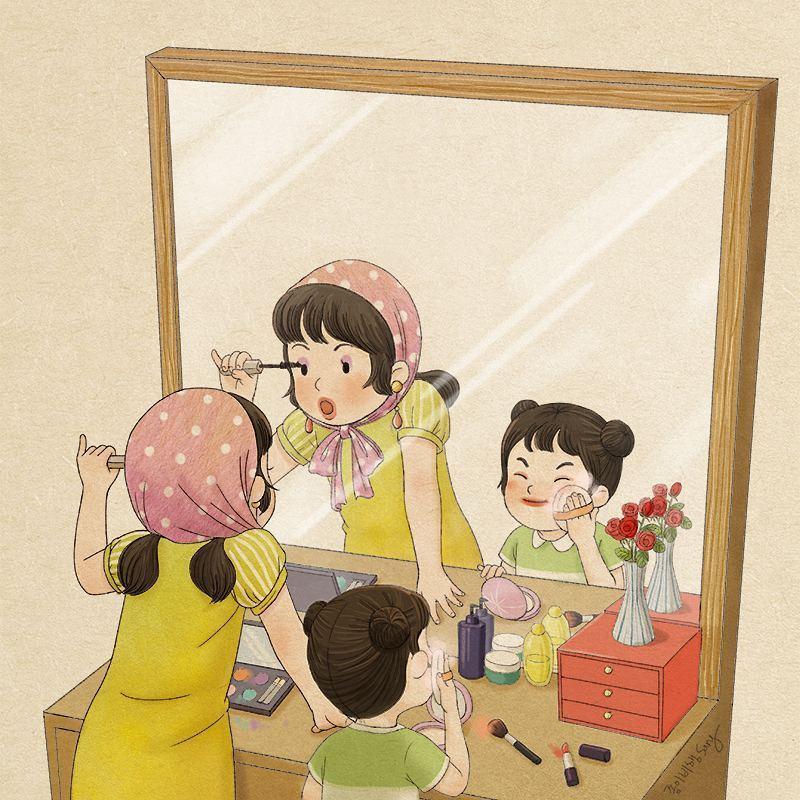 Сестра в картинках, днем