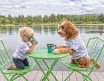 Фото животных: трогательная дружба собаки и маленького мальчика покорила Сеть