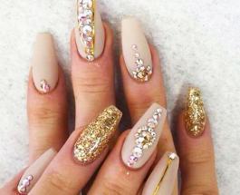 Рисунки на ногтях: золотой и гламурный маникюр для каждой женщины