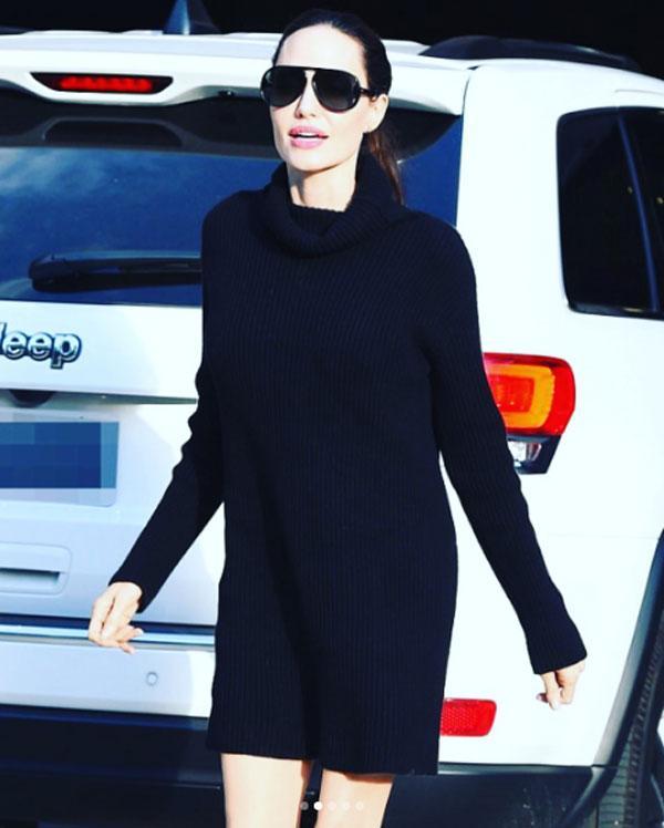 Анджелина Джоли впервый раз за долгий период времени надела короткое одеяние