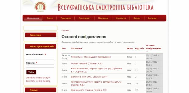 библиотека всеукраинская