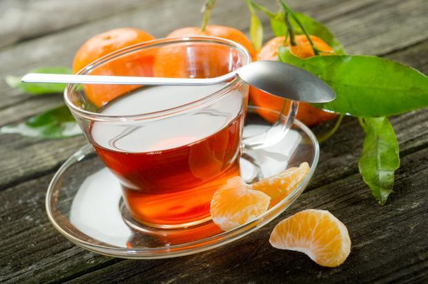 Рецепт мандаринового чая с мятой
