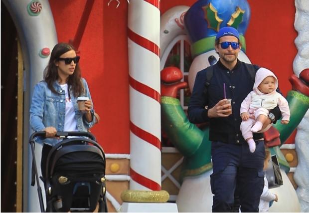 ирина шейк с парнем и дочкой