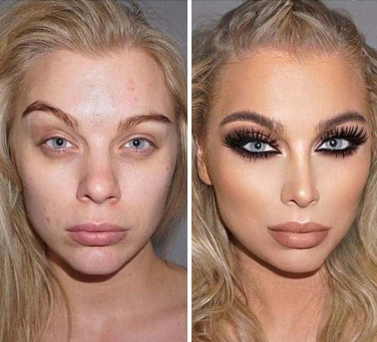 Как макияж меняет людей фото