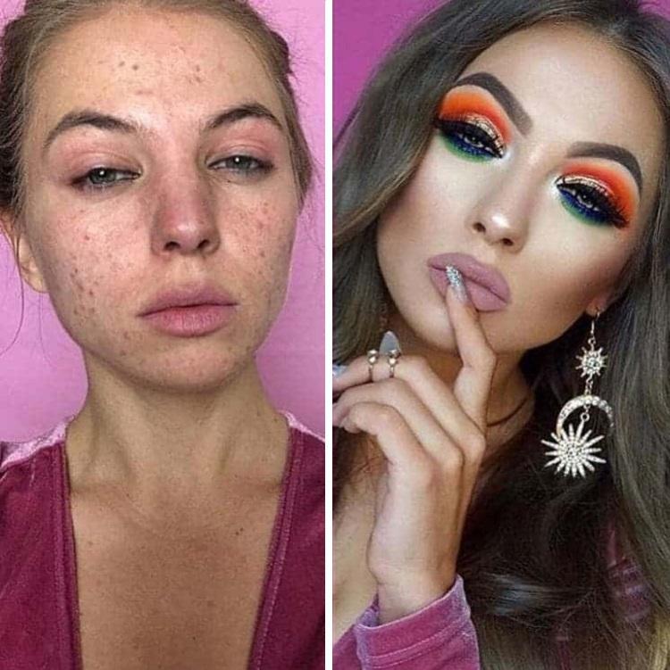 как макияж меняет людей фото картинки отличнейшем качестве