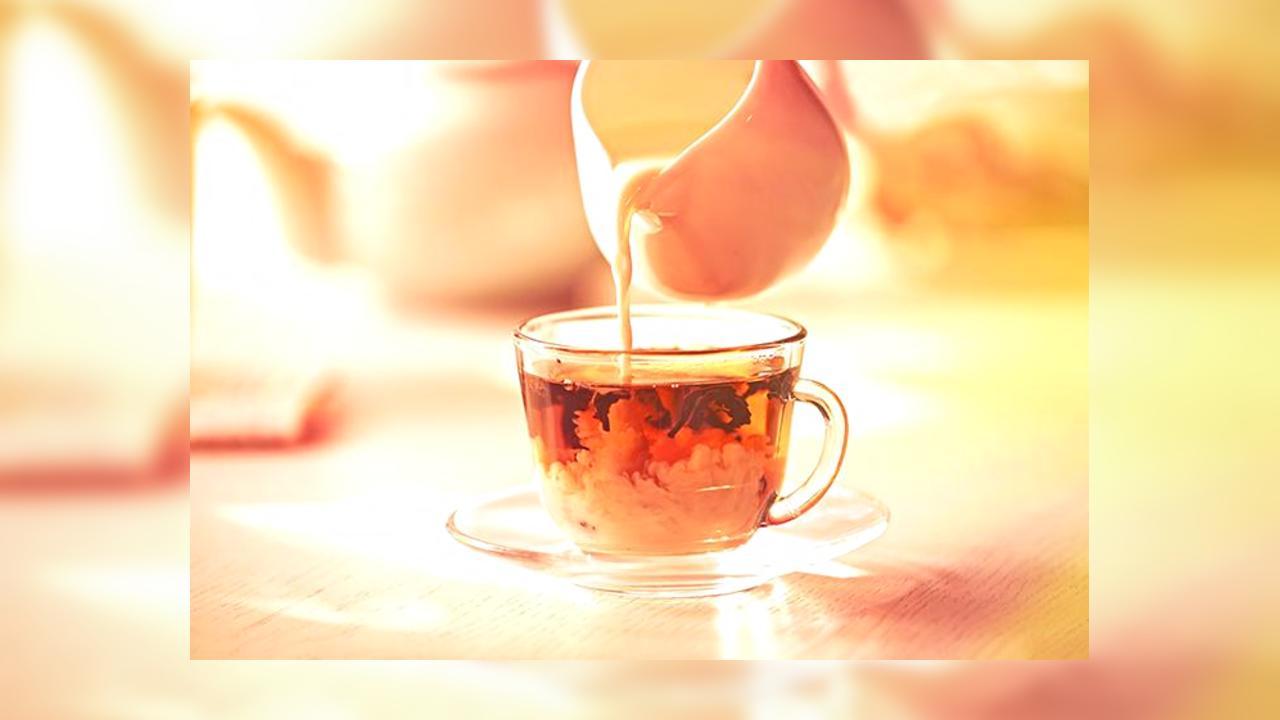 чай с молоком вред
